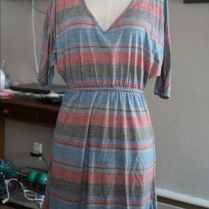 Short sleeve v-neck dress/tunic/long shirt